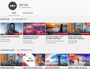 Video Live su Youtube per viaggiare da casa