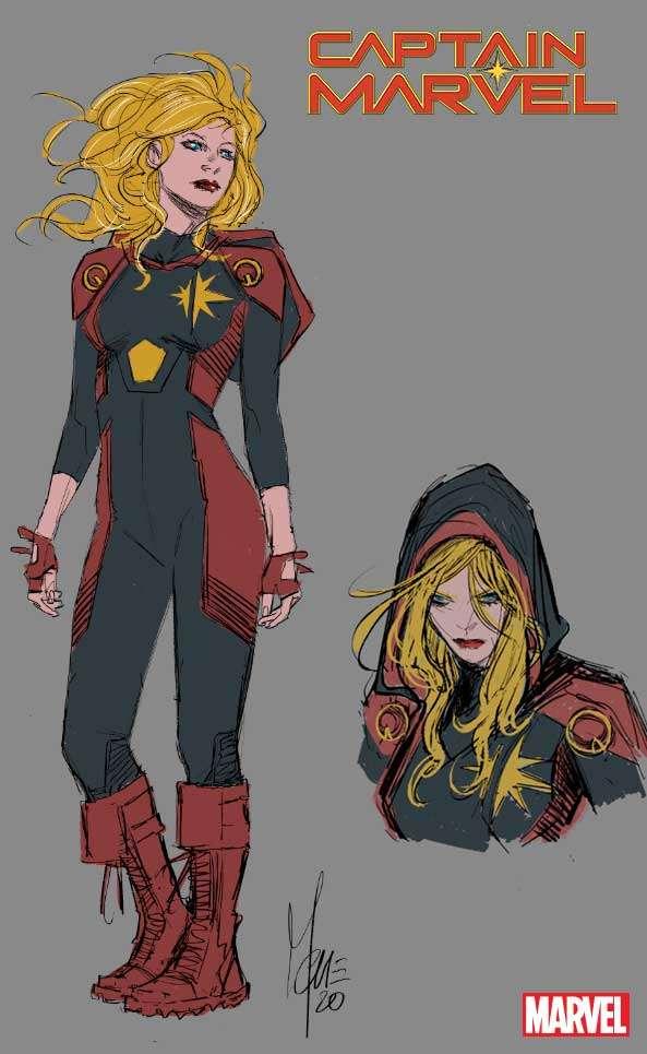 Captain Marvel nuovo look più dark e magico.