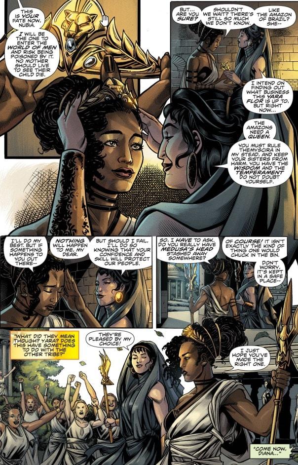 Infinite Frontier # 0, Nubia e Ippolita parlano di Yara Flor.