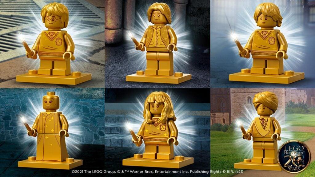 LEGO minifigure Harry Potter per il 20 anniversario dell'uscita del primo film.